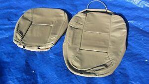99-01 Saab 9-5 Aero OEM Tan Driver Left Side Leather Seat Covers 2 Pieces Rare!