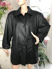 GIOVANNA Damen Lederjacke Gr. 48 Lammnappa schwarz Leder Mantel
