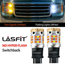 LED Front Turn Signal Parking Light Switchback 4157 3157 for GMC Yukon 2000-2014