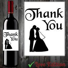 Gracias por regalos de compromiso boda de Etiqueta de vino invitados #aa29 Perfecto!
