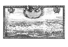 Antiguo Mapa, Rex Sueciae carolous Gustavus postquam copias suas por glacium