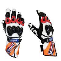 Men New Honda Repsol Motorbike Leather Glove Perfect Grip Racing Glove Moto GP