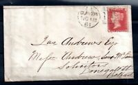 GB QV 1d pink Postal Stationery Cover to Birmingham WS18869