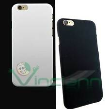 2X custodia back cover NERA e BIANCA p iPhone 6 6S Plus 5.5 case plastica rigida