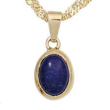 Echte Edelstein-Anhänger aus Gelbgold mit Lapis Lazuli
