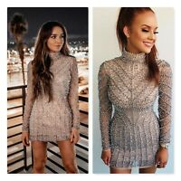 PEACE + LOVE Missguided | Womens Beaded Mini Dress NEW [  Size AU 10 or US 6 ]