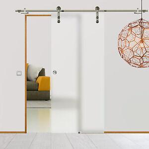 Soft Stop Glasschiebetür Glastür Edelstahl 1025x2175mm BPS-1025RA-2