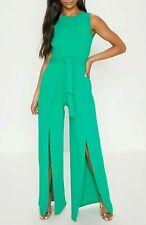 12e64eaac2 BNWT Pretty Little Thing Green Wide Leg Jumpsuit - size 10 12