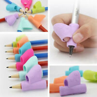 1/3X Lovely Student Pencil Holder Pen Grip Posture Corrector Device Supply Gift
