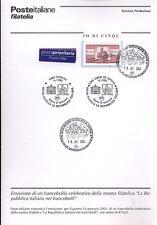 ITALIA 2003 MOSTRA FILATELICA  BOLLETTINO COMPLETO DI FRANCOBOLLI ANNULLO FDC