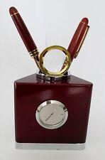 desk clock pen letter opener magnifying glass set
