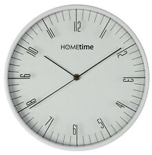 Hometime 30.5cm Kitchen Office Clear Number Contemporary Wall Clock
