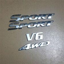 Chrome Metal V6&4WD + ABS SPORT Emblem Decal Sticker suv Badge Racing awd Engine