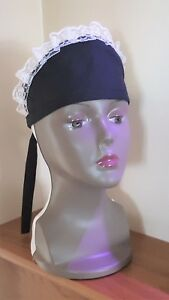 French Maid Hat Black Victorian Downton type  Fancy Dress ADULT OR CHILD