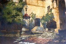 Original Radierung, Luigi Kasimir (1881 - 1962), Innenhof der Burg Seebenstein