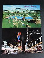 Las Vegas Postcards Vintage 1960s Flamingo Hotel Fremont Street Lot 2