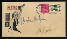 1st 1953 Playboy Hugh Hefner Autograph Reprint on Collector's Envelope XS1193
