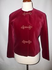 Vintage eastex ruby rouge russe coton veste de velours taille 12 british made