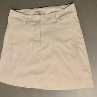 Nike Khaki Light Tan Women's Size 4 Golf Dri-Fit Skirt Skort Attached Shorts