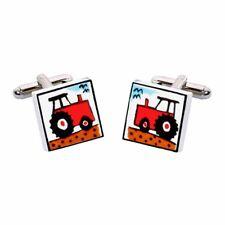 Gemelli trattore da Rosso da Sonia Spencer, articoli da regalo in scatola. dipinte a mano, prezzo consigliato £ 20!