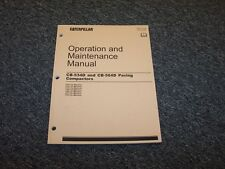 CAT Caterpillar CB534D CB564D Paving Compactor Owner's Owner Operator Manual