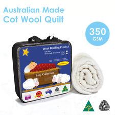 Aus Made Baby Cot Wool Quilt Duvet Doona 350GSM-100% Natural Fibre-Baby Gift