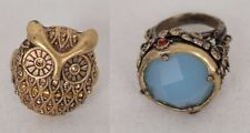 Lucky Brand Rings 2 Lot Bonsai Boho Style & Golden Owl Ring Antique Look Size 7