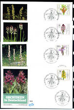 West Germany 1984, Orchids, set of 4 x FDC. Mi. 1225 - 1228