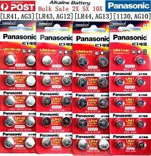 Genuine Panasonic LR41 AG3 LR43 AG12 LR44 AG13 LR1130 54 AG10 Cell Battery 1.5V