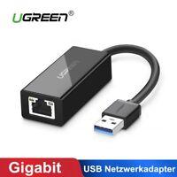 UGREEN USB Netzwerkadapter USB 3.0 auf RJ45 Gigabit Ethernet Adapter für Macbook