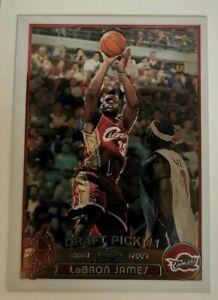 2003-04 Topps Chrome Lebron James SHARP CARD Rookie RC #111 Lakers Cavs GOAT
