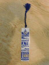 vintage mason masonic freemason embroidered ribbon bookmark