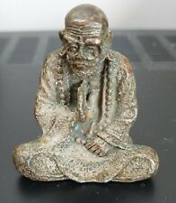 More details for antique minature japanese seated figure 19th century