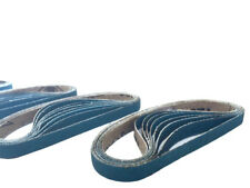 3/8 Inch X 13 Inch Zirconia Cloth Sanding Air File Belts (30 Pack, 40 Grit)