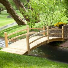 Coral Coast Harrison 8-ft. Wood Garden Bridge