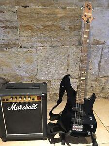 Bass Guitar and Marshall Amp