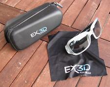 Eyewear EX3D passiv Polarisations REAL-3D Brille – transpa./Schw., f. Erwachsene
