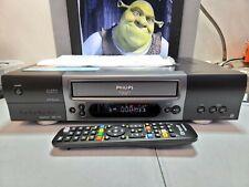 VIDEOREGISTRATORE VHS PHILIPS VR800 TOP GAMMA COME NUOVO ISTRUZ ITA E TELECOMAND