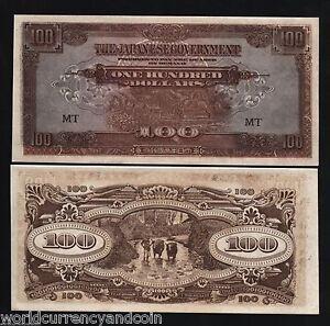 MALAYA 100 DOLLARS P- M8 A 1944 x 100 Pcs Bundle Malaysia UNC* JIM JAPAN Ocu WAR