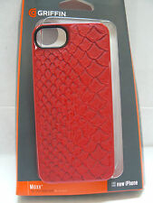 Griffin Apple iPhone 5/5S/SE Moxy Hard Shell Case Python Red Snakeskin (GB35526)