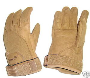 ARMY SPECIAL OPS GLOVES MENS XXL SAND Gents Military Soldier gear heavy duty