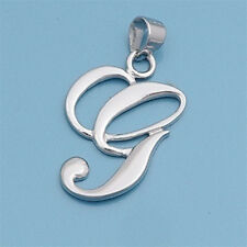 Alphabet Initial Pendant Sterling Silver 925 Rhodium Plated Jewelry Letter G