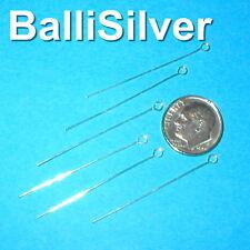 "400 Real St Silver 925 EYE PINS 23ga 1.57"" (0.6mm 40mm)"