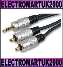 3.5MM STEREO MINI JACK TO 2 X RCA PHONO LEAD CABLE 3M