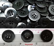 50 pcs BLACK 4 HOLE 20 mm BUTTONS DIY SEWING FOR KIDS CRAFT