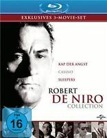 3 Blu-Ray Box Robert de Niro Collection Kap der Angst / Casino / Sleepers NEU