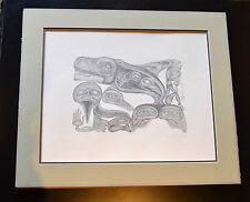 Authentic Vintage Bill Reid Lithograph Print 1983 Haida Myths Portfolio 152/200