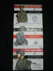 Lot of 3 Squadron/Signal Publications Weapons Series #s 1, 3, & 5