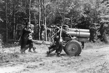 WWII B&W Photo German Soldiers with 21 Cm. Nebelwerfer Rocket Launcher/ 2281
