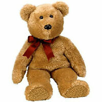 TY Beanie Buddy - CURLY the Brown Bear (14 inch) - MWMTs Stuffed Animal Toy